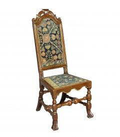 Set of Four Queen Anne Walnut and Parcel Gilt Side Chairs - 1521714