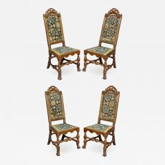 Set of Four Queen Anne Walnut and Parcel Gilt Side Chairs - 1522944