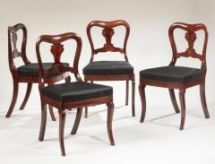 Set of Four Restauration Mahogany Dining Chairs - 699411