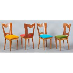 Set of Four Sculptural Chairs Italy 1950s - 1258633