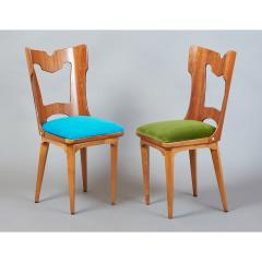 Set of Four Sculptural Chairs Italy 1950s - 1258635