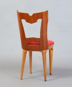 Set of Four Sculptural Chairs Italy 1950s - 1258637