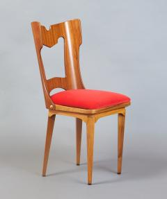 Set of Four Sculptural Chairs Italy 1950s - 1258638