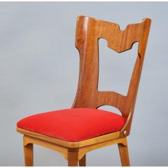 Set of Four Sculptural Chairs Italy 1950s - 1258639