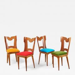 Set of Four Sculptural Chairs Italy 1950s - 1262690