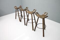 Set of Four Spanish Bar Stools 1960s - 1300492
