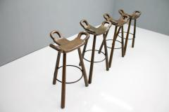 Set of Four Spanish Bar Stools 1960s - 1300494