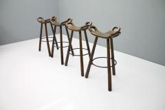 Set of Four Spanish Bar Stools 1960s - 1300496