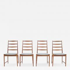 Set of Four Torbj rn Afdal Teak Dining Chairs by Vamo Denmark 1960s - 895423