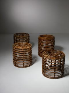 Set of Four Wicker Stools - 1245712