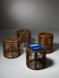 Set of Four Wicker Stools - 1245713