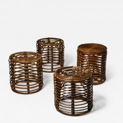 Set of Four Wicker Stools - 1246289