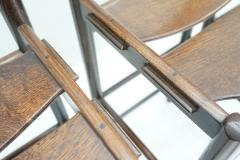 Set of Four Wood Bar Stools 1970s - 1775080
