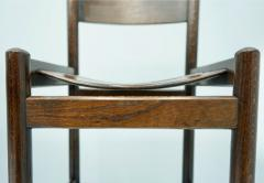 Set of Four Wood Bar Stools 1970s - 1775085