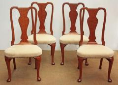 Set of Georgian Chairs with Urn Form Splats Queen Anne Style - 1983225