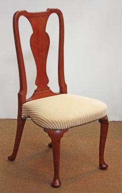 Set of Georgian Chairs with Urn Form Splats Queen Anne Style - 1983226