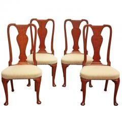 Set of Georgian Chairs with Urn Form Splats Queen Anne Style - 1983231