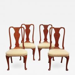 Set of Georgian Chairs with Urn Form Splats Queen Anne Style - 2028447