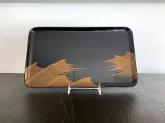 Set of Japanese Lacquer Tray and Box in Art Deco Style - 1018379