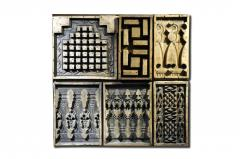 Set of Nine Wooden Cement Molds - 1539940