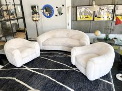 Set of Polar Sofa and Boule Armchairs by Jean Royere - 1663786