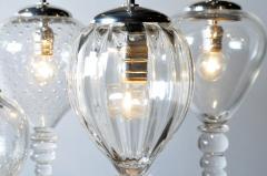 Set of Seven Hand Blown Glass Pendant Light Fixture - 666428