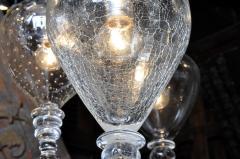 Set of Seven Hand Blown Glass Pendant Light Fixture - 666433