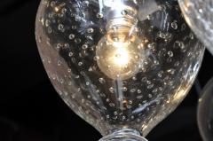 Set of Seven Hand Blown Glass Pendant Light Fixture - 666434