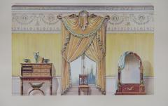 Set of Six Antique French Interior Prints - 962210