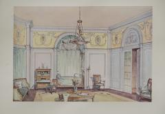 Set of Six Antique French Interior Prints - 962211