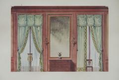 Set of Six Antique French Interior Prints - 962212