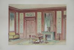 Set of Six Antique French Interior Prints - 962213