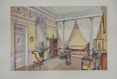 Set of Six Antique French Interior Prints - 962215
