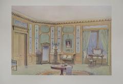 Set of Six Antique French Interior Prints - 962216