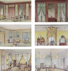 Set of Six Antique French Interior Prints - 962396