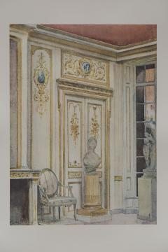 Set of Six Antique Interior Prints - 962656