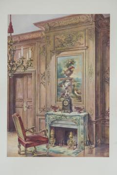 Set of Six Antique Interior Prints - 962662