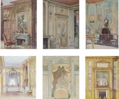 Set of Six Antique Interior Prints - 963309