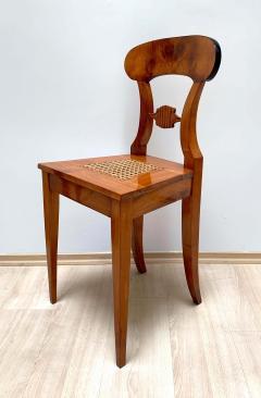 Set of Six Biedermeier Board Chairs Cherry Veneer Mesh Austria circa 1830 - 1103894