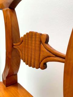Set of Six Biedermeier Board Chairs Cherry Veneer Mesh Austria circa 1830 - 1103897
