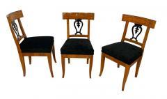 Set of Six Biedermeier Chairs Cherry Veneer and Ash Roots Germany circa 1820 - 1576746