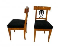 Set of Six Biedermeier Chairs Cherry Veneer and Ash Roots Germany circa 1820 - 1576747