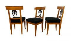 Set of Six Biedermeier Chairs Cherry Veneer and Ash Roots Germany circa 1820 - 1576749