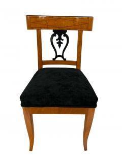 Set of Six Biedermeier Chairs Cherry Veneer and Ash Roots Germany circa 1820 - 1576754