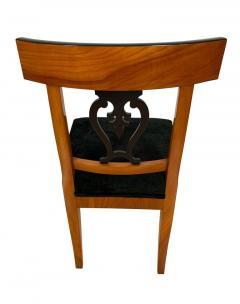 Set of Six Biedermeier Chairs Cherry Veneer and Ash Roots Germany circa 1820 - 1576769