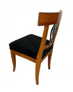 Set of Six Biedermeier Chairs Cherry Veneer and Ash Roots Germany circa 1820 - 1576771