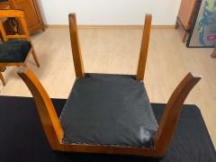 Set of Six Biedermeier Chairs Cherry Veneer and Ash Roots Germany circa 1820 - 1576776