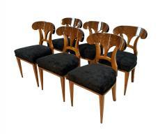 Set of Six Biedermeier Shovel Chairs Walnut Veneer South Germany circa 1860 - 1982994