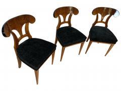 Set of Six Biedermeier Shovel Chairs Walnut Veneer South Germany circa 1860 - 1982995