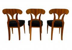 Set of Six Biedermeier Shovel Chairs Walnut Veneer South Germany circa 1860 - 1982996